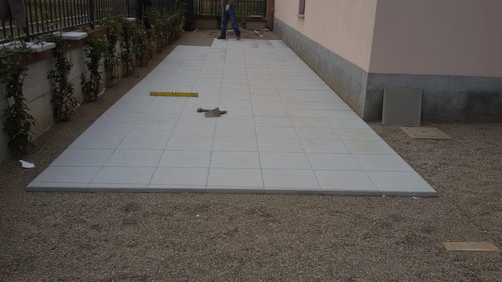 rifacimento pavimento cortile