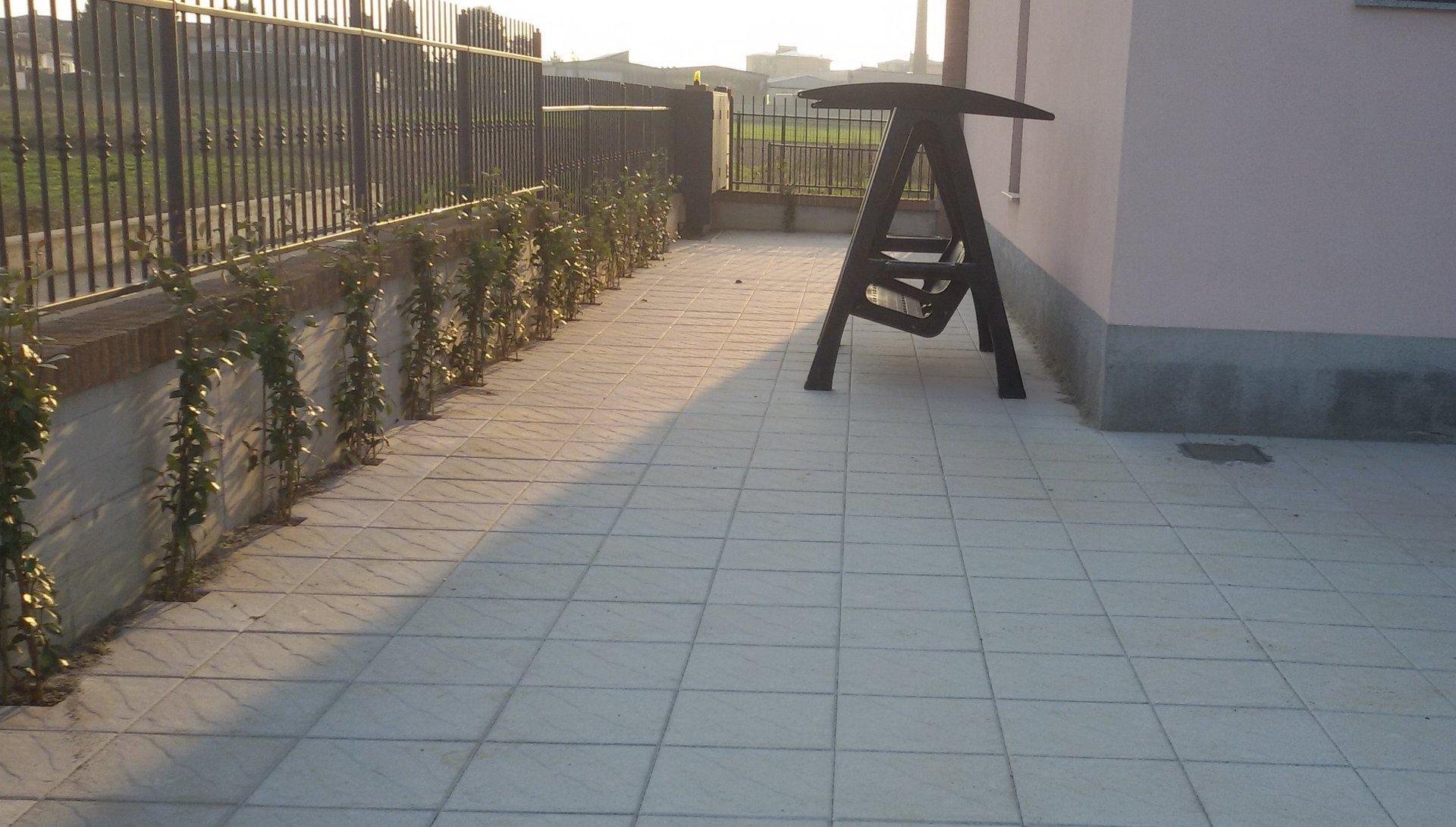 pavimento durante costruzione