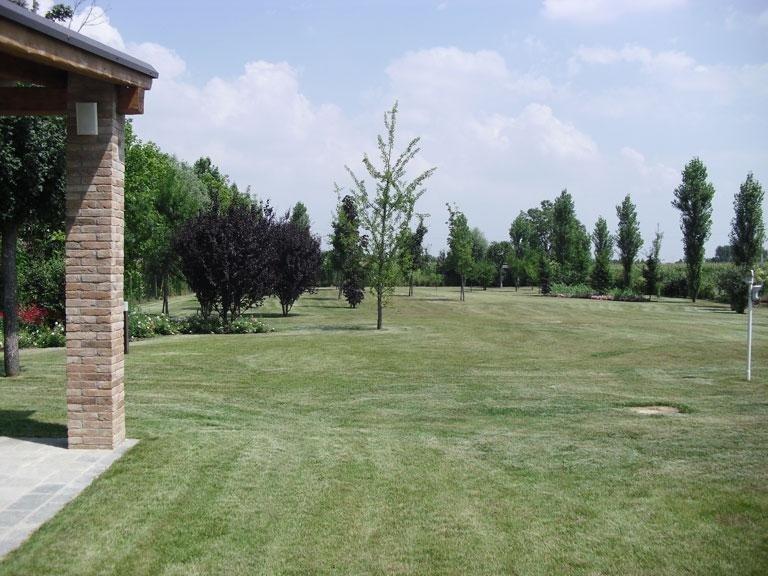 Allestimento area verde