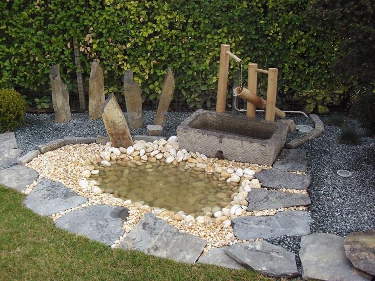 Allestimento giardino giapponese