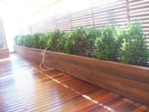 I giardinieri della ditta realizzano composizioni di piante per terrazzi e balconi.