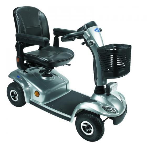 scooter elettrico grigio con cestino