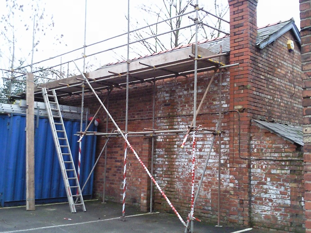 commercial scaffolding installation
