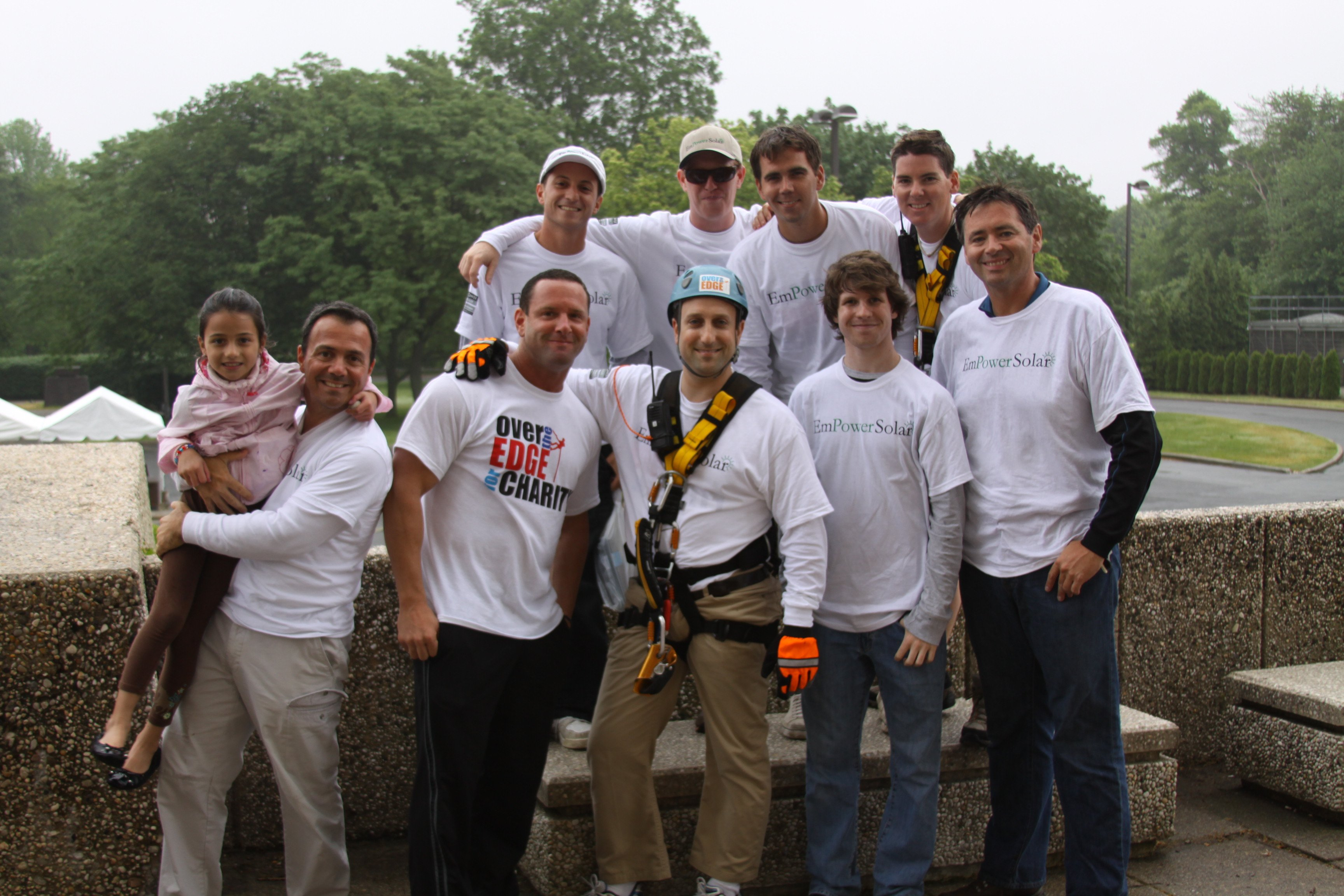 Over the Edge Volunteer Day SunPower by EmPower Solar