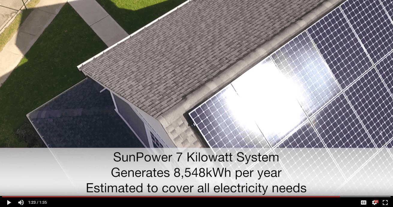 United Way zero energy ready home with solar panels