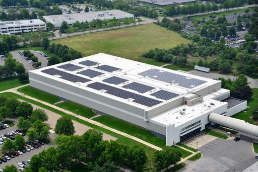 Commercial solar panels for Estee Lauder in NY