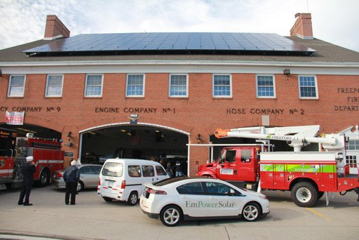 Commercial solar panels for Freeport Fire House in NY