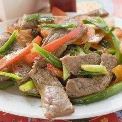 Manzo con verdure cinesi