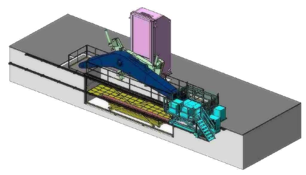 schema tecnico di posizionatore per carichi pesanti