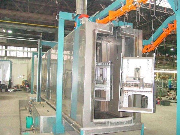 impianto di lavaggio automatico multi stadio per carpenteria