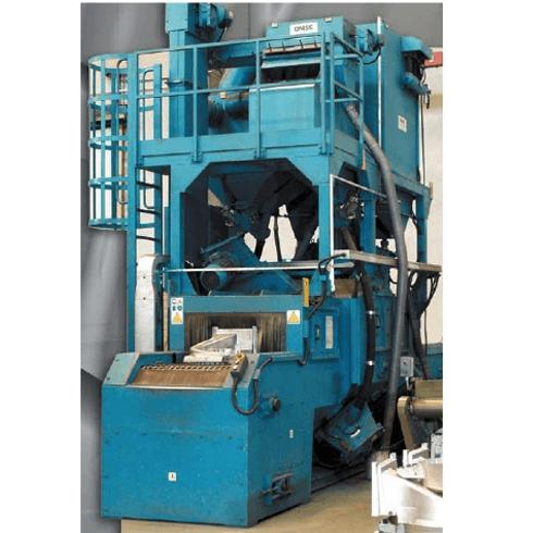 Granigliatrice a turbina con trasportatore a rete