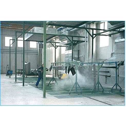 Zona di lavaggio manuale con aspirazione e recupero acqua per idropulitrice o vapore saturo