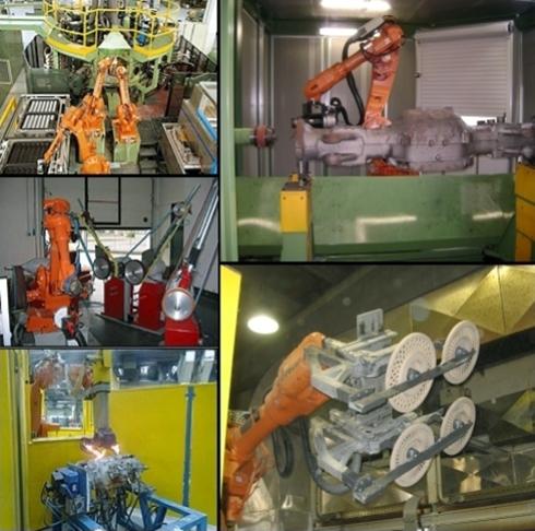 Isole robotizzate di manipolazione e sbavatura