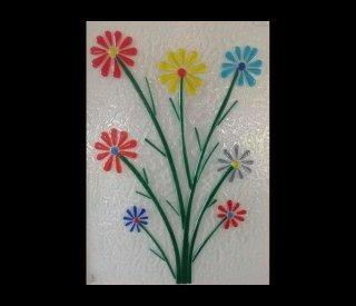 fiori colorati vetrofusi