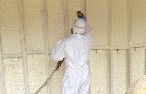 spray insulation pose
