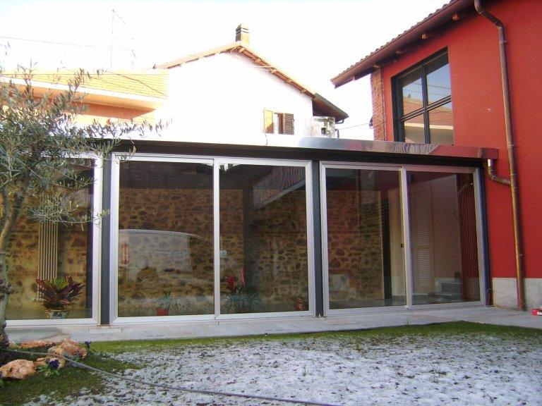 veranda con pannelli