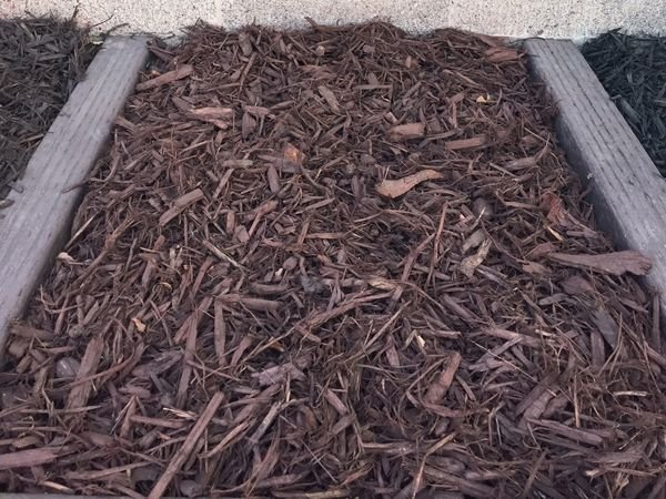 Dark Brown Colored Mulch for sale in Salt Lake City - Mark's Lawn and Garden Supply