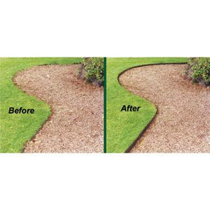 Edging along flower beds makes all the difference for a perfect manicured lawn
