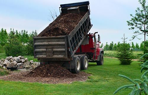 Mulch and compost delivered in bulk quanitites