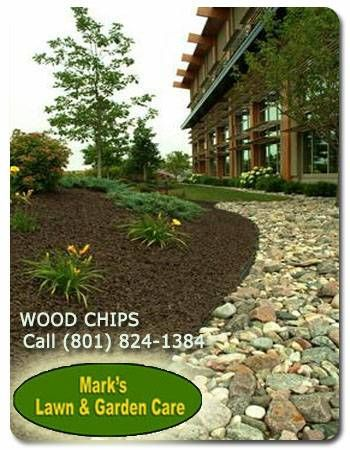 Decorative wood chips for sale! Light and dark brown colors - put the finishing touches on your flower beds