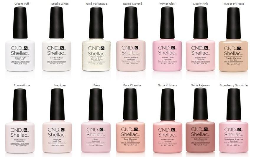 Shellac nail polish range