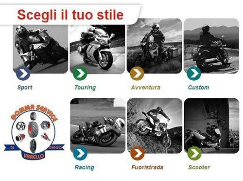 diversi modelli di motociclette