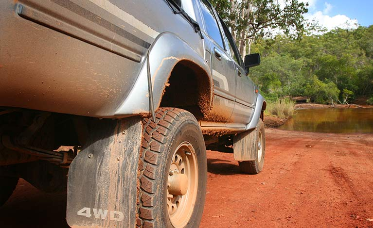 4WD diesel vehicle in the Australian outback