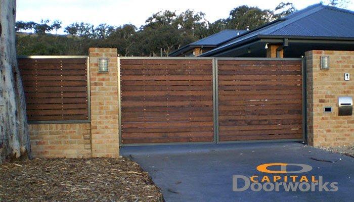 timber slat gate