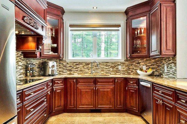 Natural Walnut Kitchen Island In Summit New Jersey: Kitchen & Bath Wholesalers