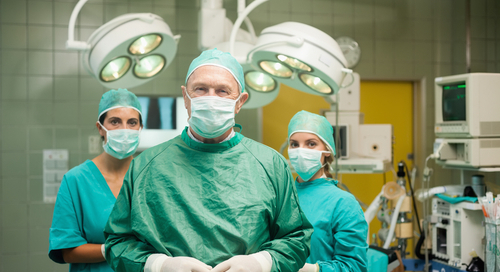Doctor and nurses in the operating room