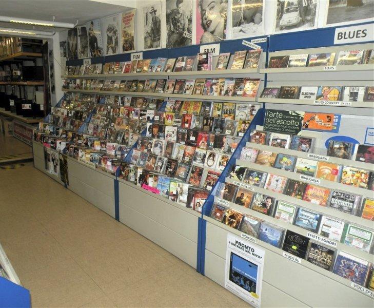 cd musicali in esposizione