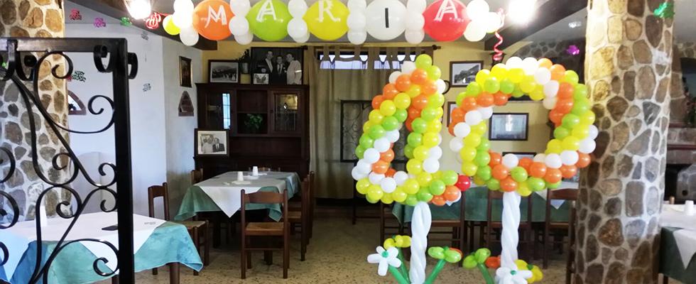 decorazioni feste con palloncini