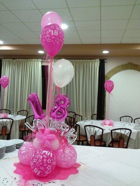 palloncini rosa e bianchi