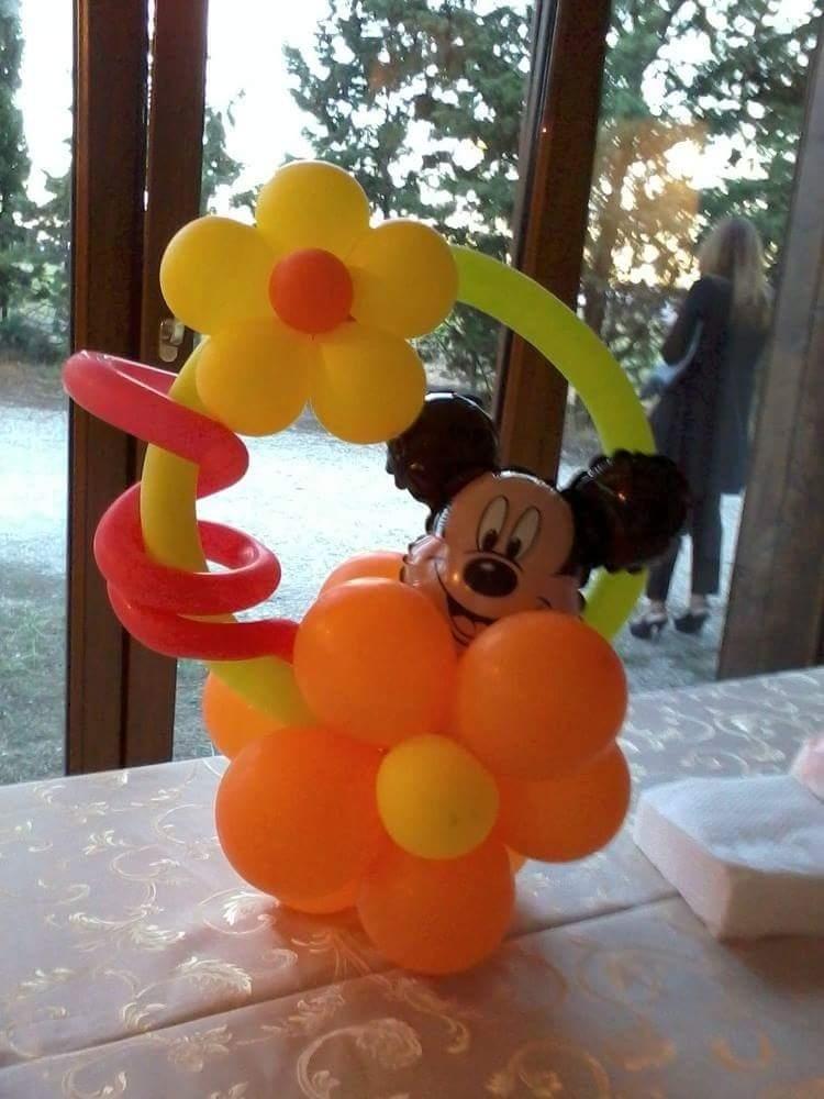 decorazione palloncini con Mickey Mouse