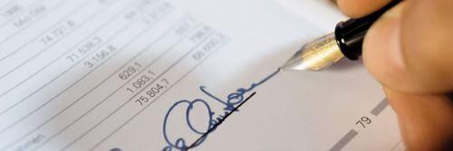 Firma di un finanziamento personalizatto