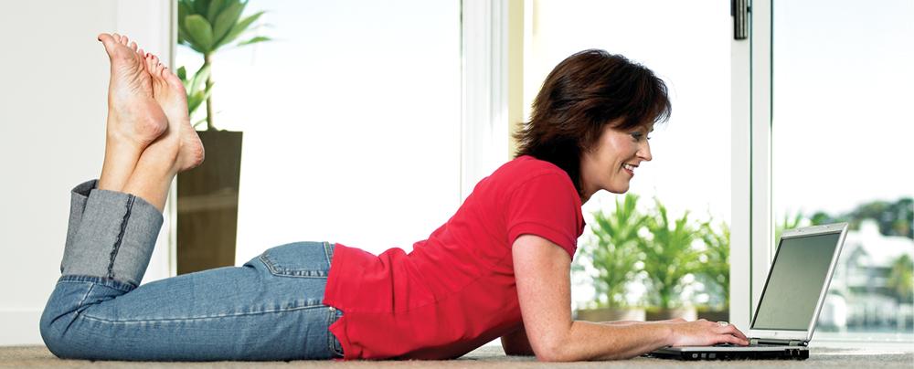 woman enjoying floor heating in Christchurch
