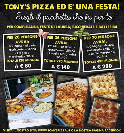 insegna TONY`S PIZZA