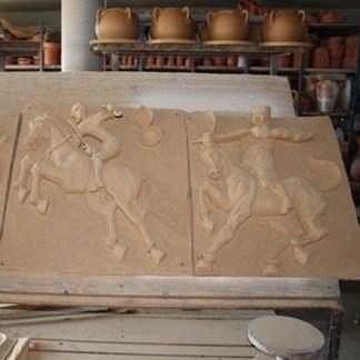 piastrelle decorative in terracotta