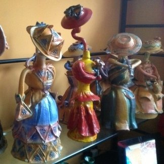 Statuette decorative ceramica