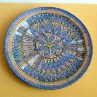 Piatto decorazione in ceramica