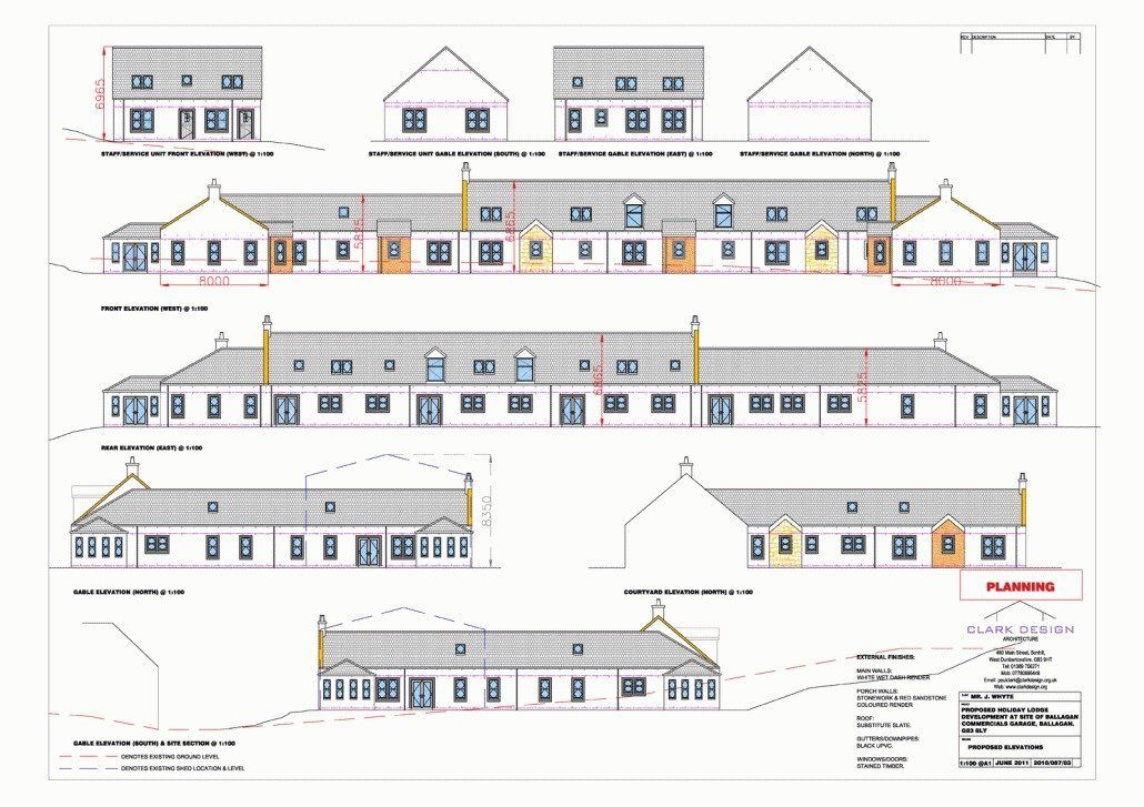Holiday let development in Loch Lomond National Park area