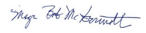 Msgr. Robert McDermott signature