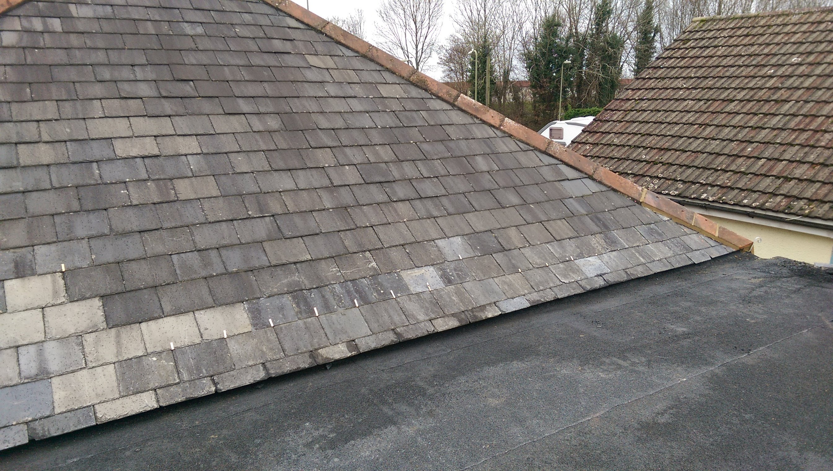 A tiled roof