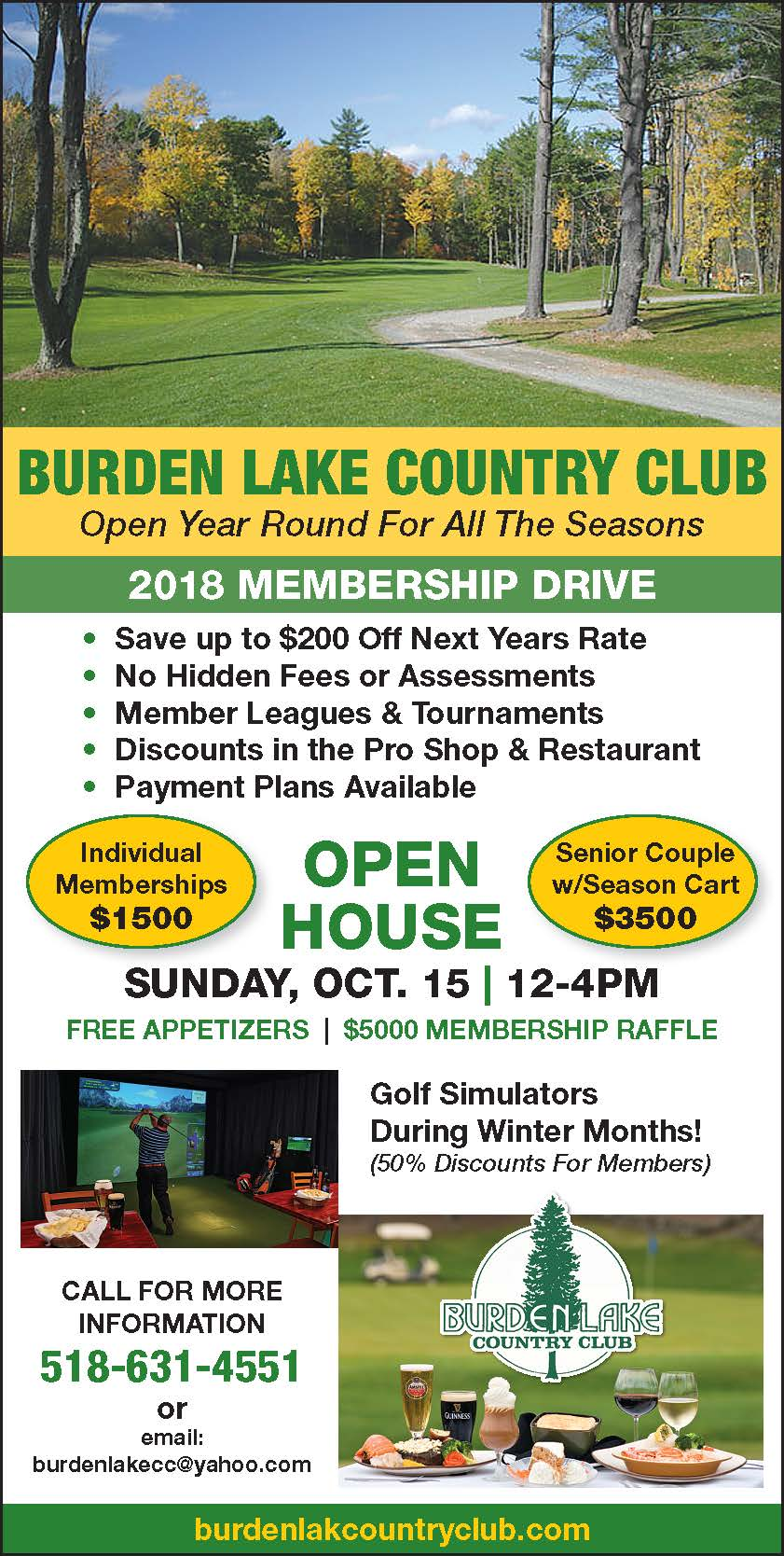 Golf Membership Deals 2018 Flyer