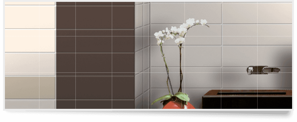 Stylish bathroom wall tiles in neutral colours