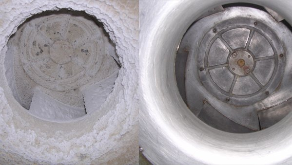 before and after duct system