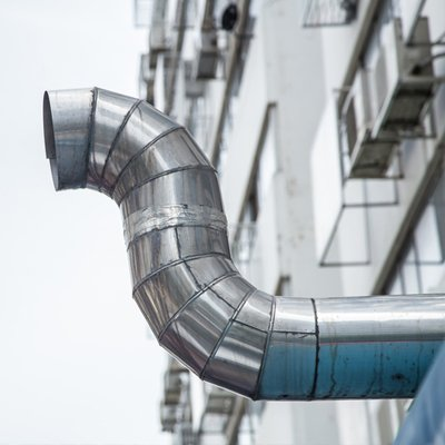 exterior air duct