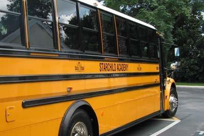 Photo of a StarChild Academy School Bus