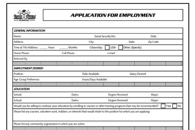 StarChild Academy Application for Employment