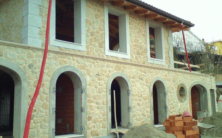 Rifacimento facciate in pietra